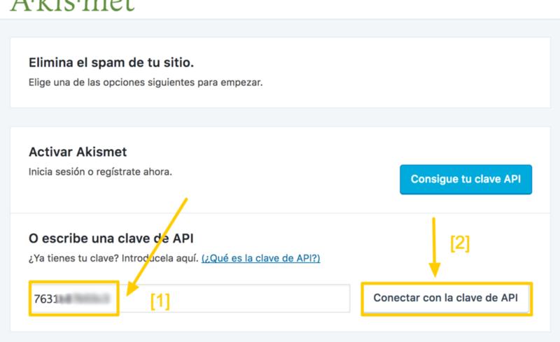 Éste es el último paso para que Akismet funcione en tu WordPress.