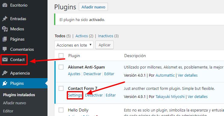 Tienes dos vías para configurar el plugin.