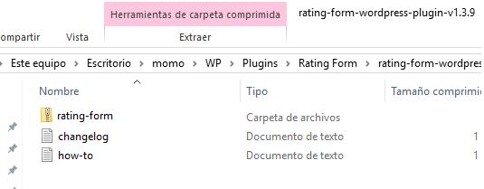 Mira que dentro del .zip no haya varios archivos.