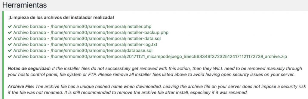 Si ves esto, has podido migrar tu WordPess con Duplicator.
