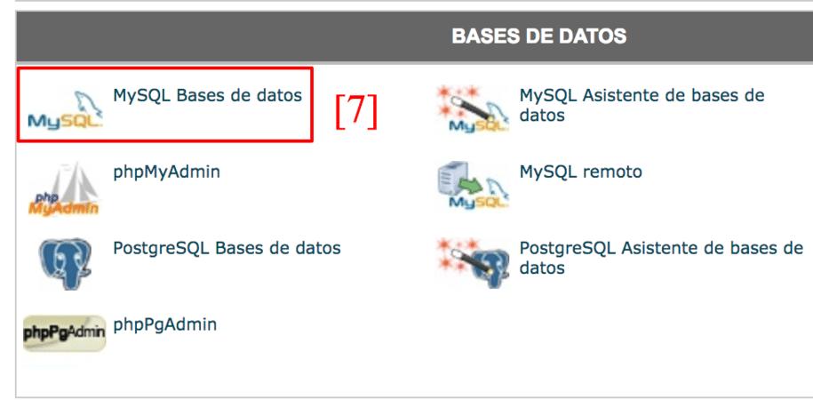 Entra aquí para crear una base de datos.