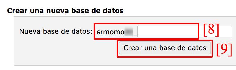 Dale un nombre a tu database.