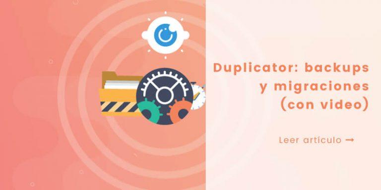 tutorial plugin duplicator para migrar WordPress