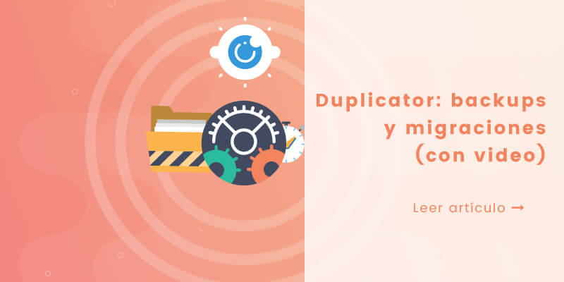 tutorial plugin duplicator para migrar WordPress