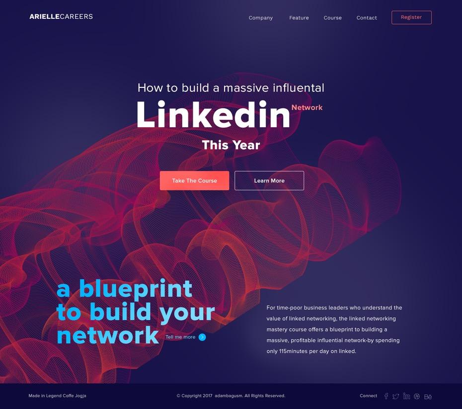 Web con una paleta de colores vibrante.