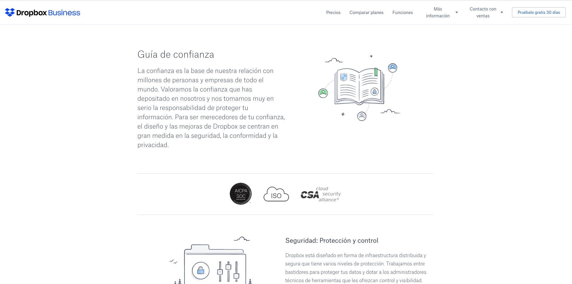 Ejemplo de página web con ilustraciones