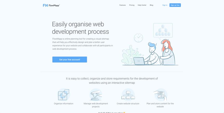 Web con ilustraciones bien integradas gráficamente y a nivel comunicativo.