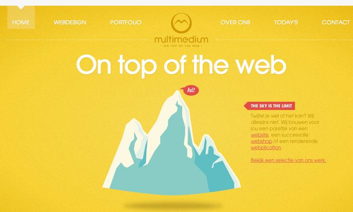 Ejemplo de web donde el amarillo es el protagonista.