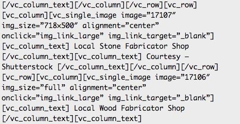 Rastro de código que deja dicho maquetador visual una vez lo desactivas