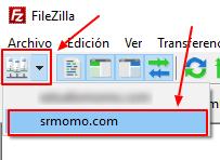 conectar rápidamente a cuenta FTP
