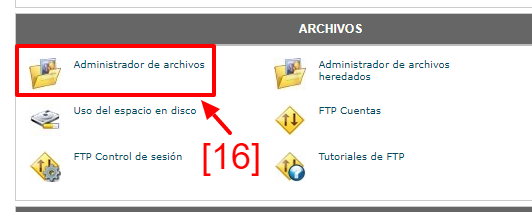 Accede a WebFTP desde cPanel.