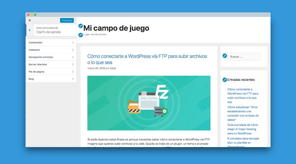 Opciones de diseño de pantalla para tu web con GeneratePress