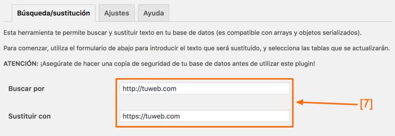 Aquí puedes pasar todas las URLs a HTTPS