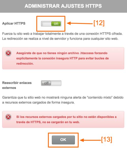 Aplica HTTPS para forzar su uso
