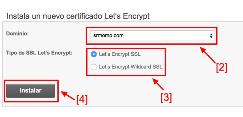 Pasos para instalar un certificado Let's Encrypt