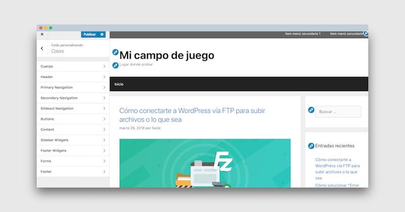 addon de colores en GeneratePress premium