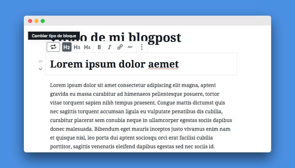 formato texto gutenberg