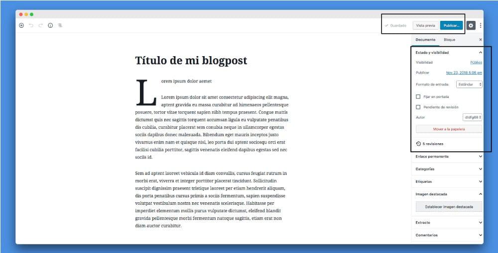 herramientas publicacion gutenberg