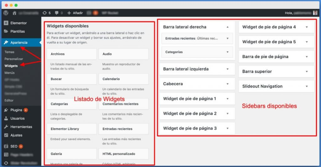 Cómo instalar un widget en WordPress