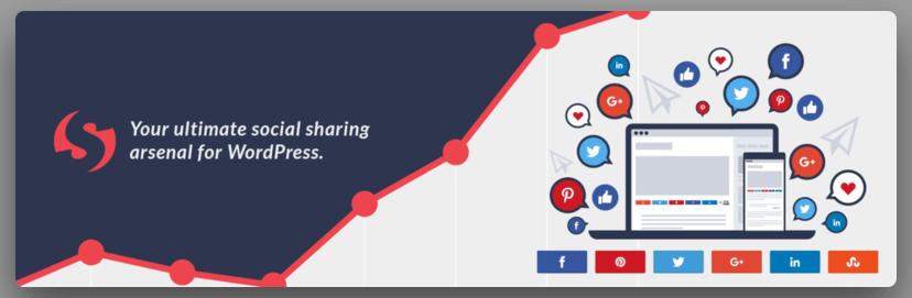 Plugin de compartir entradas de blog en redes sociales Social Warfare