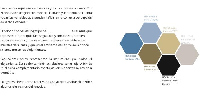ejemplo de colores en un manual de marca
