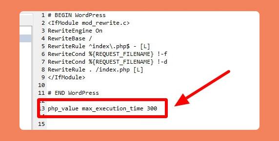 añade este código a htaccess para incrementar max execution time