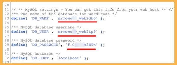 nuevos ajustes MySQL en wp-config.php