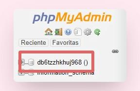 cambiar contraseña wordpress phpmyadmin 2