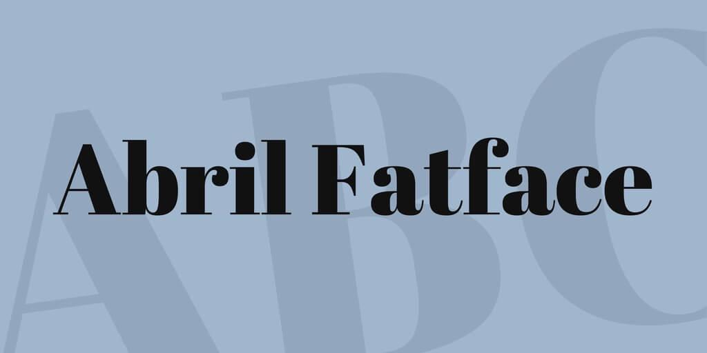 tipografia moderna abril fatface