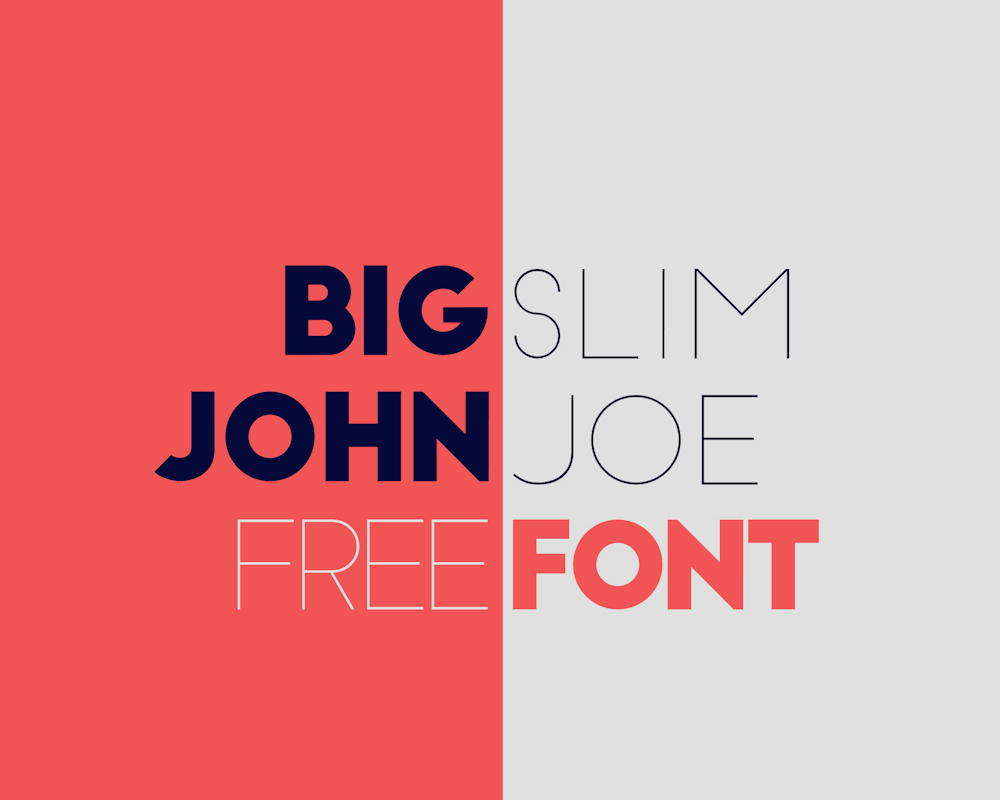 tipografia moderna big john