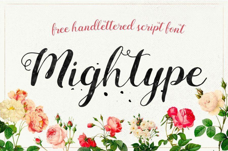 tipografia moderna mightype script