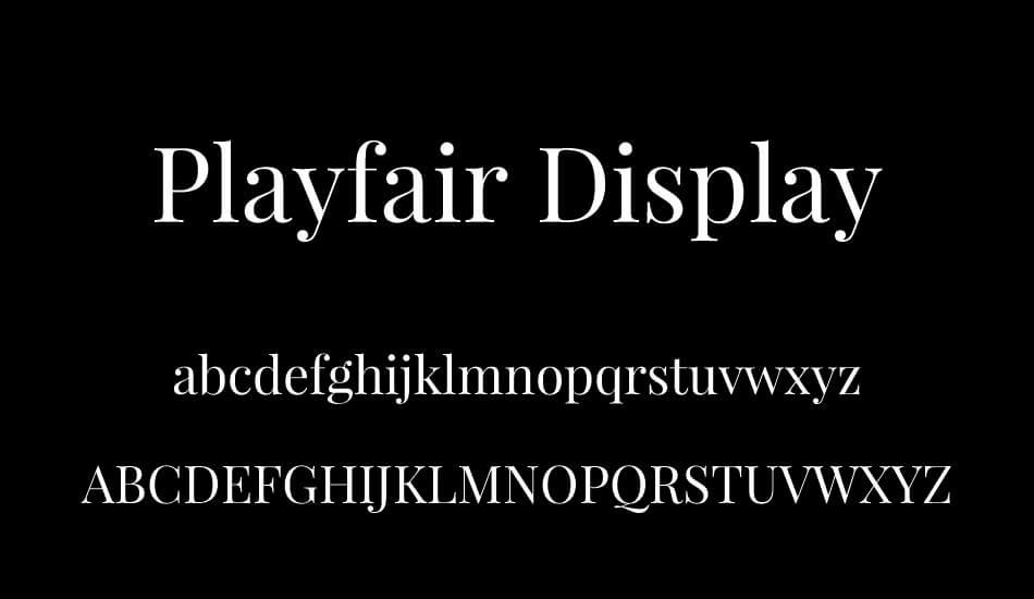 tipografia moderna playfair display